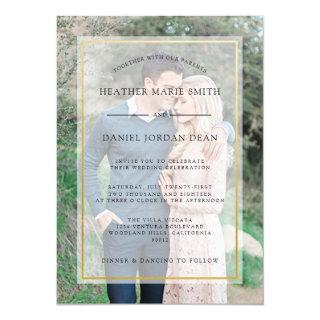 Modern Photo Wedding Invitations