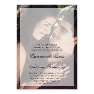 Modern Photo with Chic Script Names Wedding Invitations