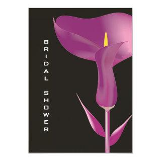 Modern Purple Calla Lily Bridal Shower Invitation