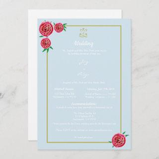 Modern Red Floral Invitations (Ganesh)