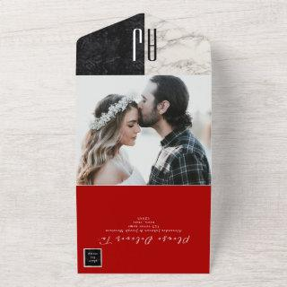 Modern Red Photo Wedding All In One