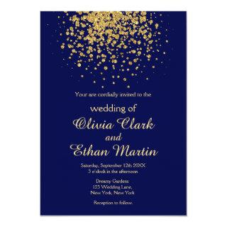 Modern Royal Blue with a Splash of Gold Invitations