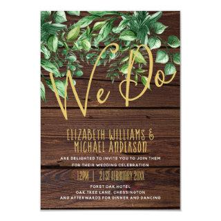 Modern Rustic Greenery Invites With Envelopes