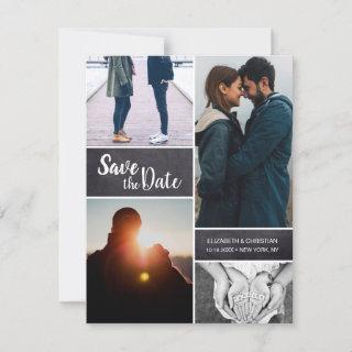 Modern Save the date Wedding Multiple Photo Announcement