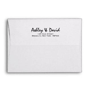 Modern Script 5x7 Invitations Envelope