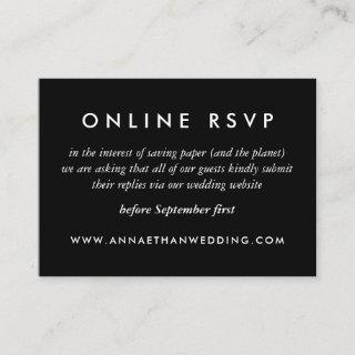 Modern Silver Rings Wedding Online RSVP Card