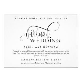 Modern Simple Online Virtual Wedding Invitations
