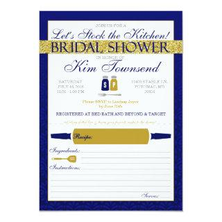Modern Stock the Kitchen Bridal Shower Invites