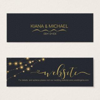 Modern String Lights Wedding Website Gold ID585