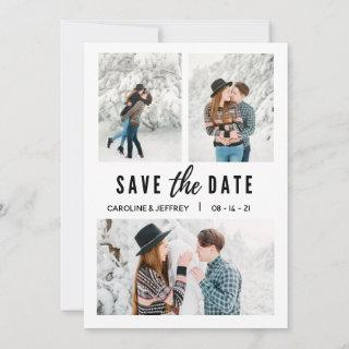 modern stylish multi photo save the date