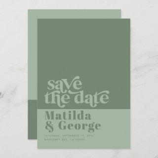 Modern trendy typography bold wedding