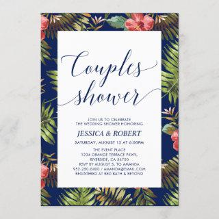 Modern Tropical Couples Wedding Shower Invitations