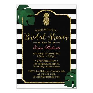 Modern Tropical Pineapple Hawaiian Bridal Shower Invitation