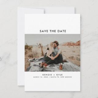 Modern Two Photo Wedding Save the Date