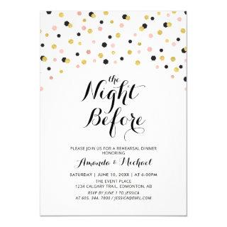 Modern Typography Wedding Rehearsal Dinner Invitations