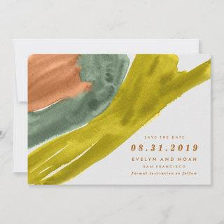 Modern Watercolor Earth Tone Save the Date