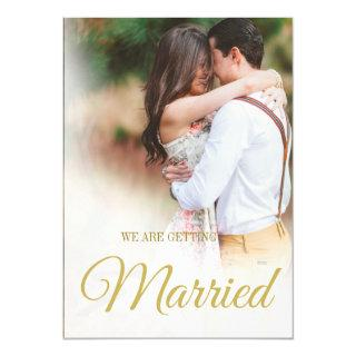 Modern Wedding Photo Overlay Elegant Simple Invitation