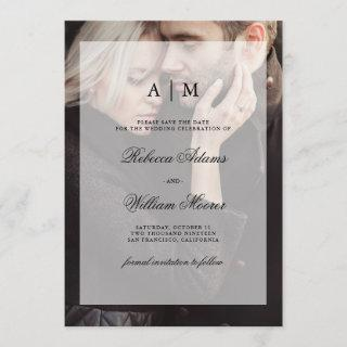 Modern Wedding Save the Date | Photo with Overlay