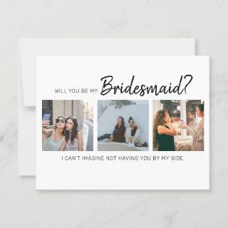 Modern Will You Be My Bridesmaid? | Photo Collage