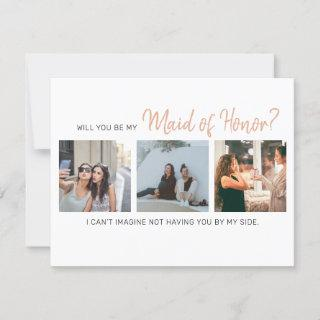 Modern Will You Be My Maid of Honor? Proposal