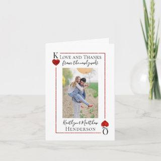 Monogram Playing Card Wedding Collection Thank You