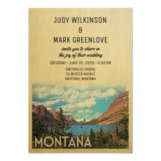 Montana Wedding Invitations Vintage Glacier Lake