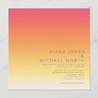 Mood Gradient Wedding Hot Summer ID741 Invitations