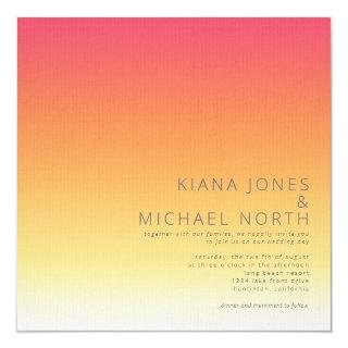 Mood Gradient Wedding Hot Summer ID741 Invitation