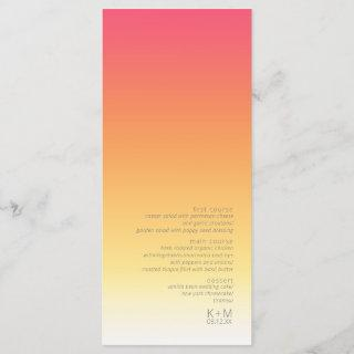 Mood Gradient Wedding Hot Summer ID741 Menu