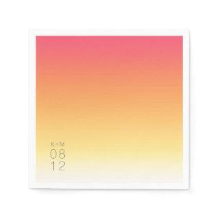 Mood Gradient Wedding Hot Summer ID741 Napkins