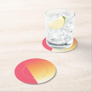 Mood Gradient Wedding Hot Summer ID741 Round Paper Coaster