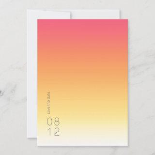 Mood Gradient Wedding Hot Summer ID741 Save The Date
