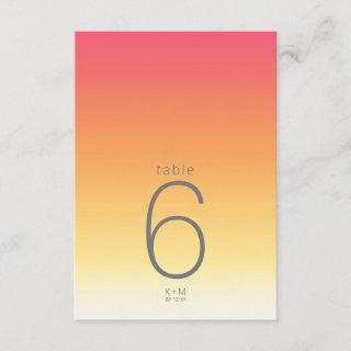 Mood Gradient Wedding Table Hot Summer ID741 Invitations