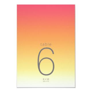 Mood Gradient Wedding Table Hot Summer ID741 Invitation