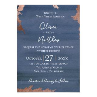 Moody Blue Wedding Invitations