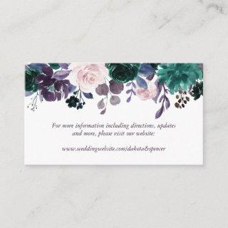 Moody Boho | Eggplant Purple Floral Website Enclosure Card