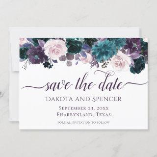Moody Boho | Eggplant Purple Plum Mauve Wedding Save The Date