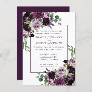 Moody Passion | Dramatic Purple Bouquet Frame