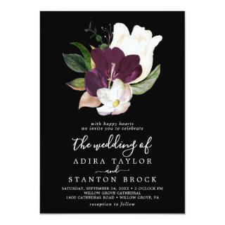 Moody Purple Blooms | Black The Wedding Of Invitation