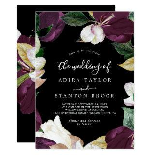 Moody Purple Blooms | Black The Wedding Of Invitations