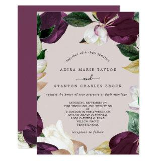 Moody Purple Blooms | Blush & Berry The Wedding Of Invitations