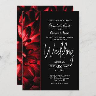 Moody Red Floral Wedding