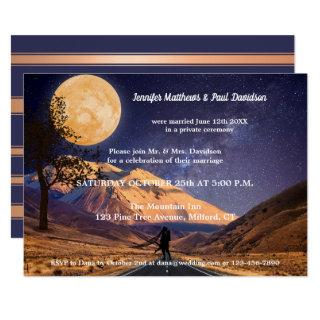 Moon Starry Night Mountains After Wedding Invitations