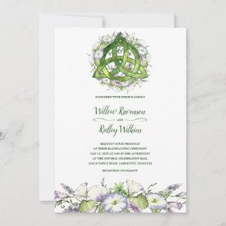 Morning Glory Celtic Green Triquetra Handfasting