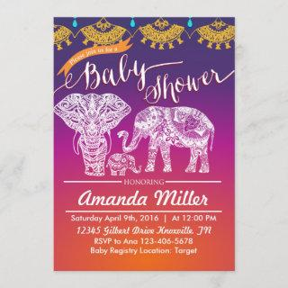 Moroccan Baby Shower - Indian Inspiration - India Invitation