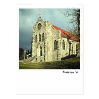 Moscow PA Postcard-Saint Catherine of Siena Church Postcard