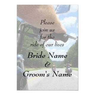 Motorcycle Biker Riding Funny Wedding Invitations