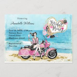 Motorcycle Bridal Shower Invitation