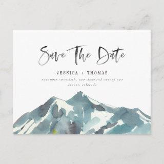 Mountain Celebration Save The Date Postcard