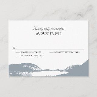 Mountain Lake Gray | Wedding RSVP